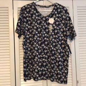 Women's Medium KIM ROGERS V-Neck Tee Shirt NWT!!!